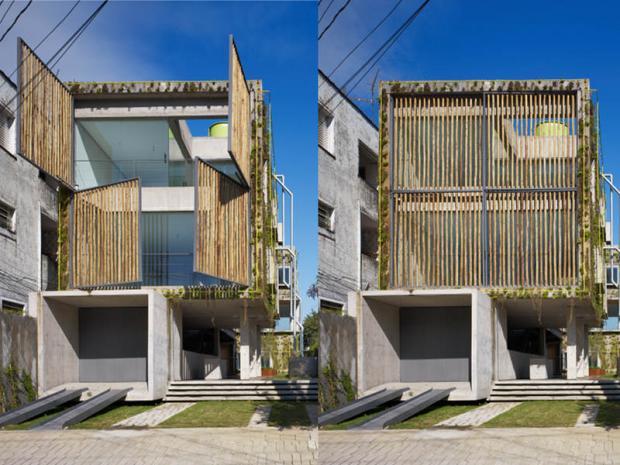Edifício sustentável Harmonia 57, na Vila Madalena em São Paulo - projeto Triptyque - foto Nelson Knon