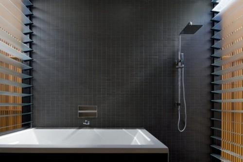 Banheiro Contempor 226 Neo Em Preto E Branco Arquitetura