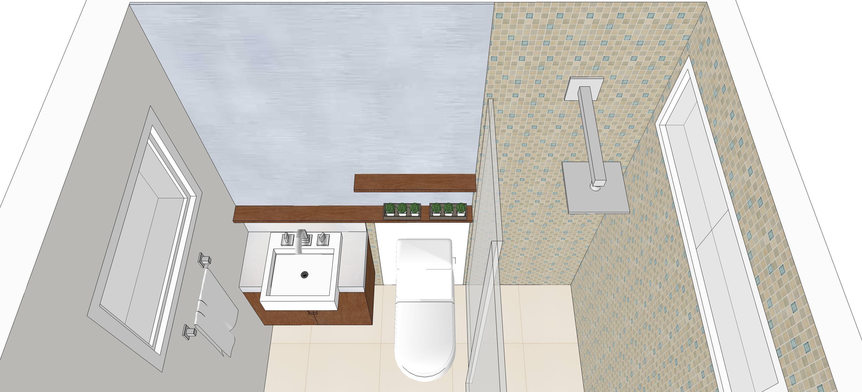 Banheiro – suíte – Samantha S. São Paulo – SP – KzaBlog  #74492D 3000x1366 Banheiro Clique Arquitetura