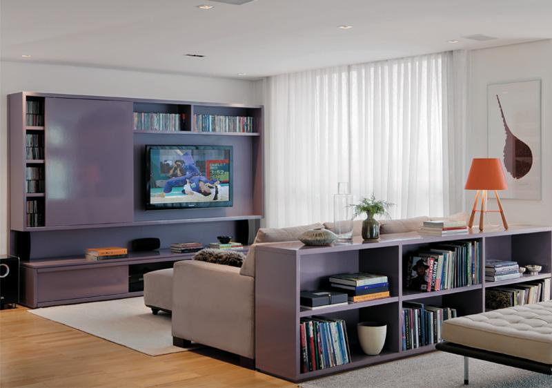 Sala Com Tv Na Parede ~ TV na parede qual a altura ideal? – KzaBlog  Casa e Decoração