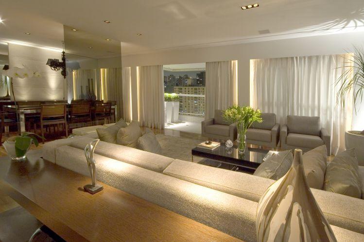 Painel de vidro separa sala de estar e jantar kzablog for Sala de estar sala de jantar
