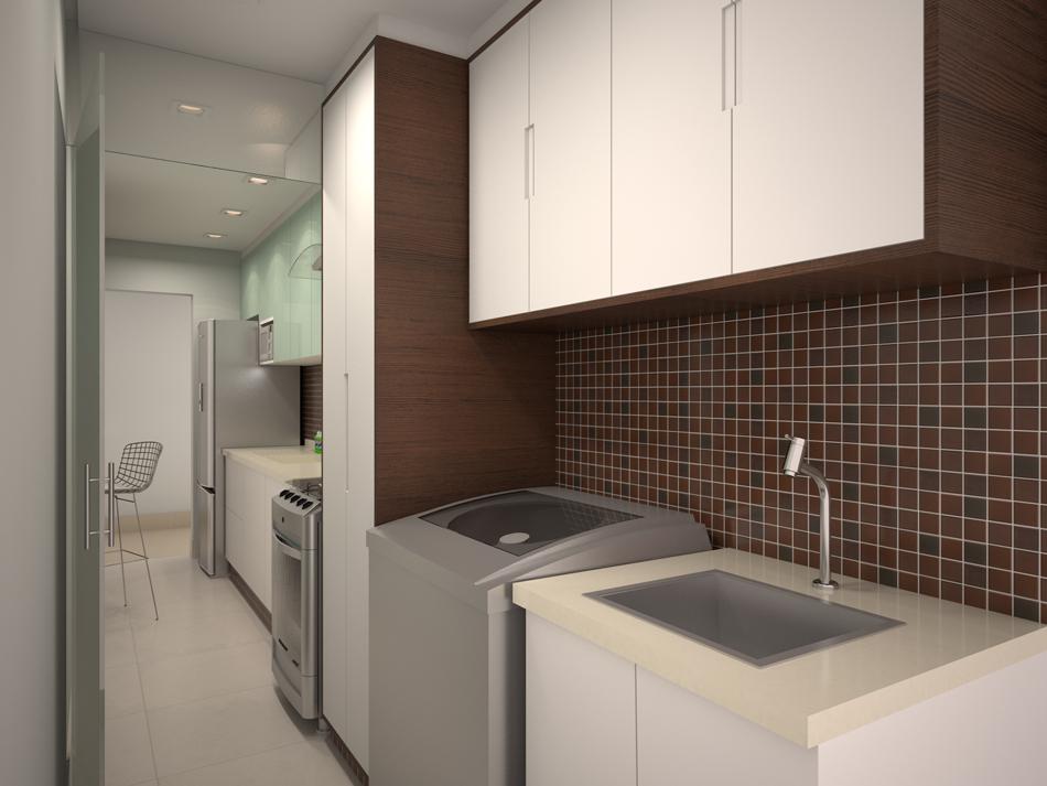 Suficiente Projeto para uma cozinha pequena do Arquitetura + Interiores  UM77