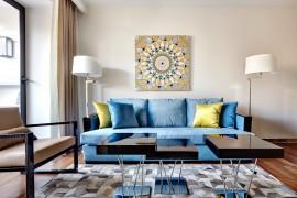 Decoração elegante em um apartamento de apenas 52m²