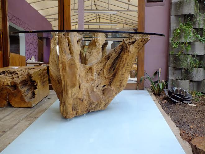 Mesa de tronco emp rio brasil kzablog casa e decora o for Mesa tronco