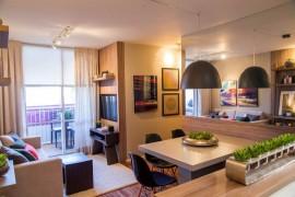 Apartamento decorado de 60m² - Sala de estar + Jantar