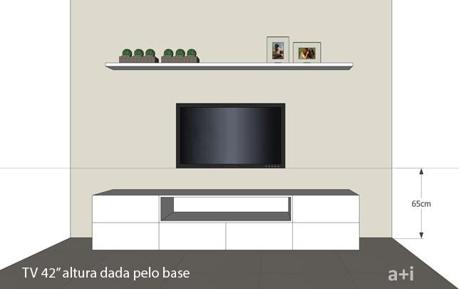 Prateleira de leitura a altura ideal para pendurar a tv - Distancias recomendadas para ver tv led ...
