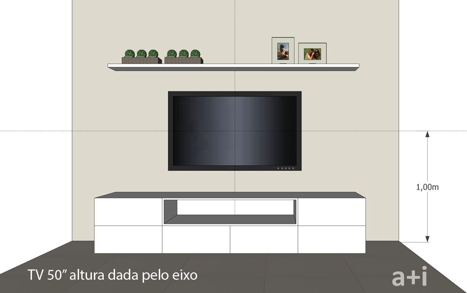 Altura Padrao De Tv Na Parede Sala ~  Consultoria Imobiliária A ALTURA IDEAL PARA PENDURAR A TV NA PAREDE