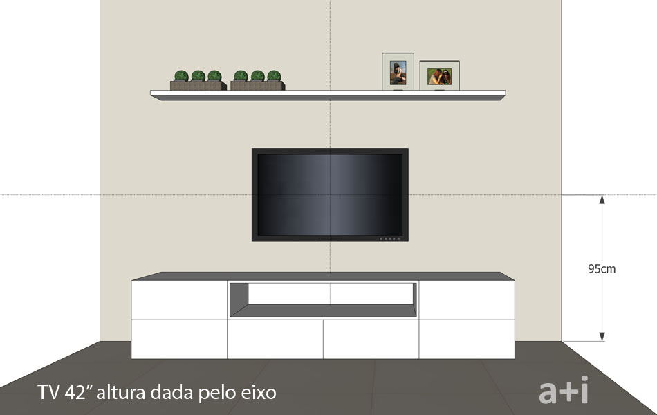 Prateleira de leitura a altura ideal para pendurar a tv for Ergonomia en muebles de casa