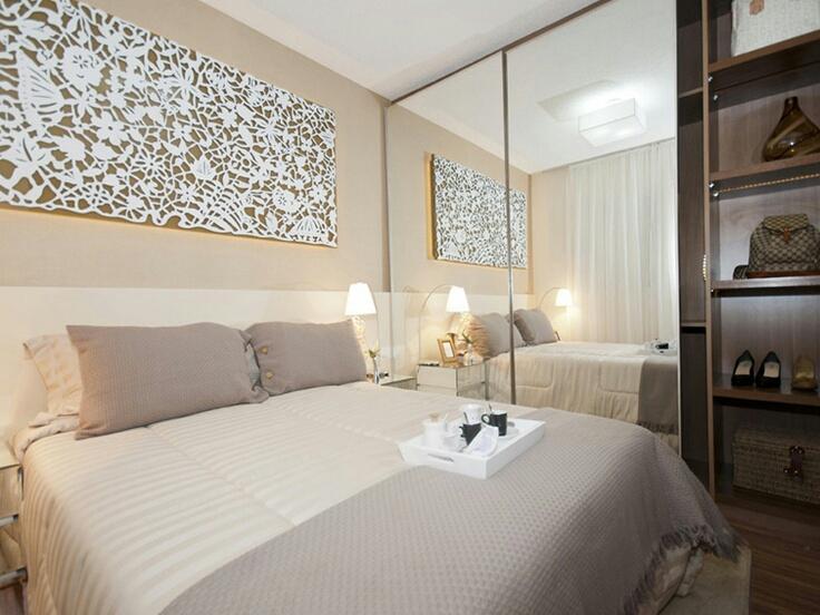 Arm rios escondidos por espelhos no dormit rio - Armarios pequenos dormitorio ...