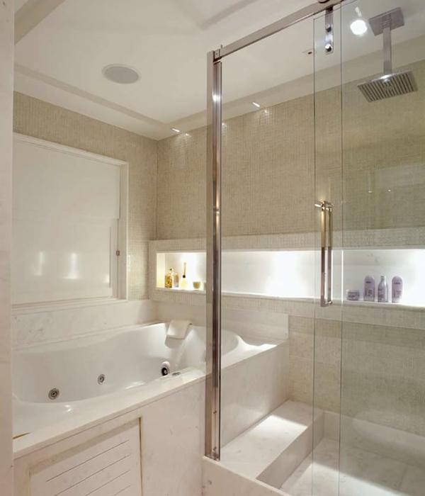 Nichos no banheiro – úteis e decorativos