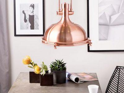 luminária de cobre