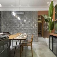 Revestimento 3D na cozinha