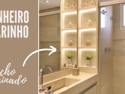 banheiro clarinho nicho iluminado